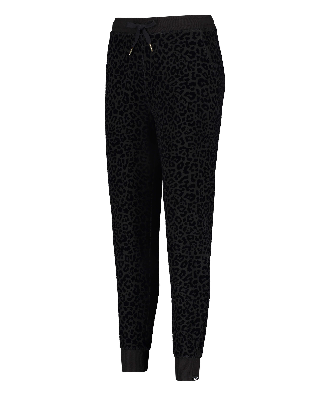 Pantalones de deporte HKMX Leopard, Negro, main