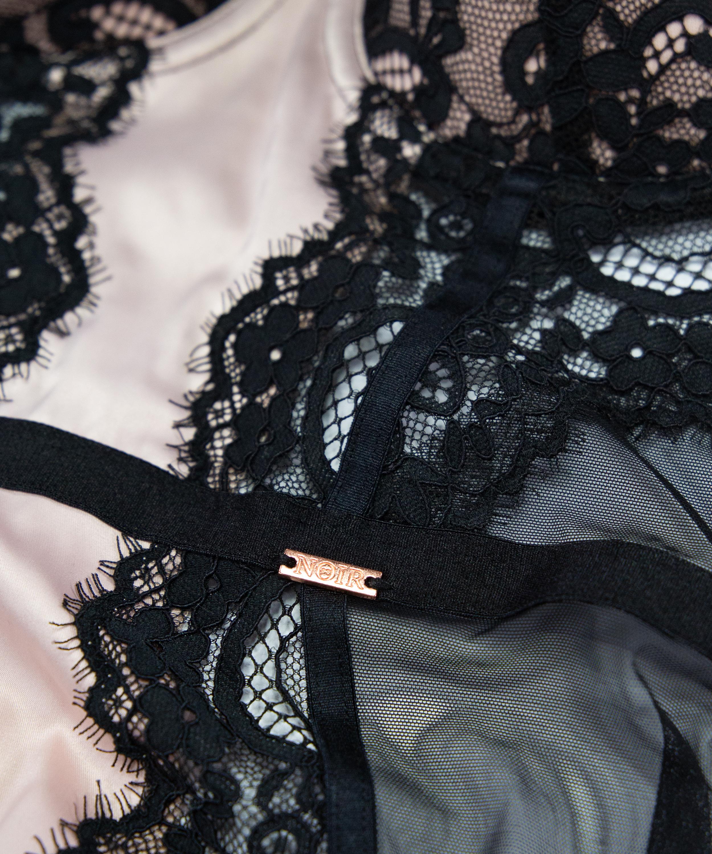 Vestido lencero con aros preformado Amelia, Negro, main