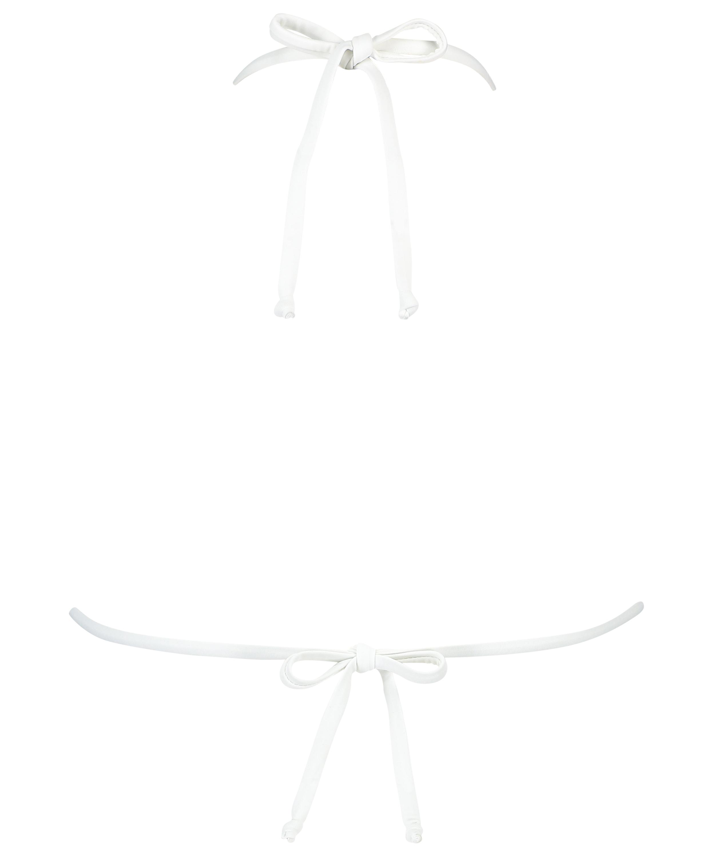 Top de bikini de triángulo Maldivas, Blanco, main