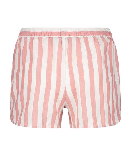 Pantalón corto de pijama Chambray a rayas, Rosa