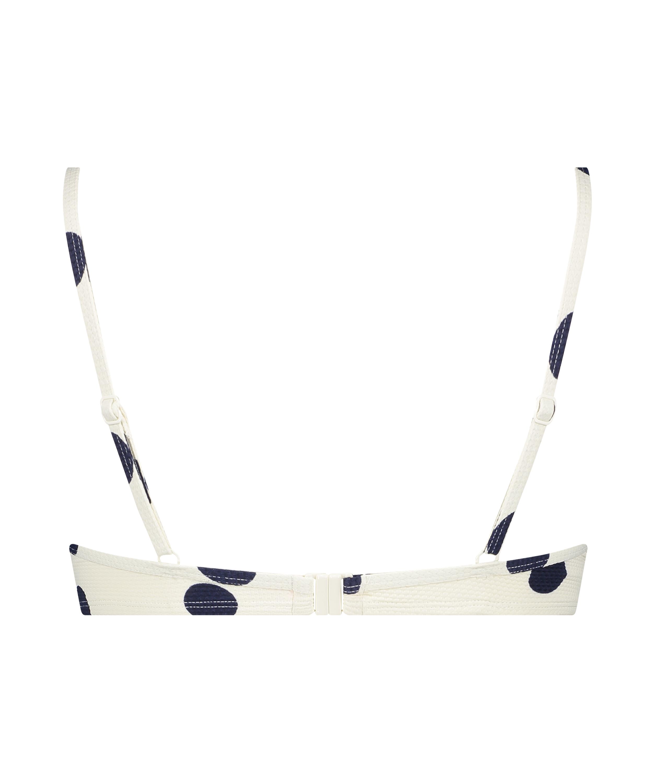 Top de bikini con aros preformado Scallop Dot, Blanco, main