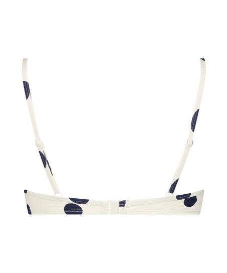 Top de bikini con aros preformado Scallop Dot, Blanco
