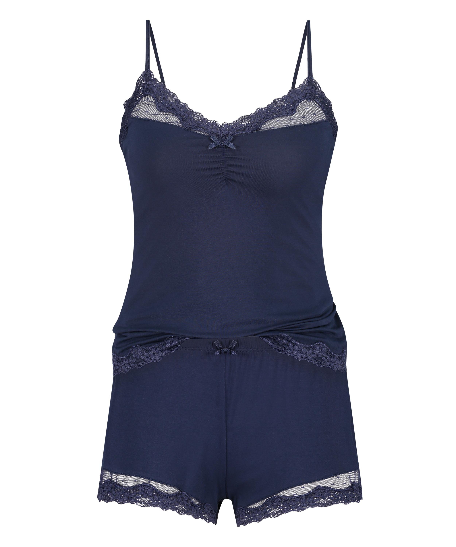 Conjunto de pijama, Azul, main
