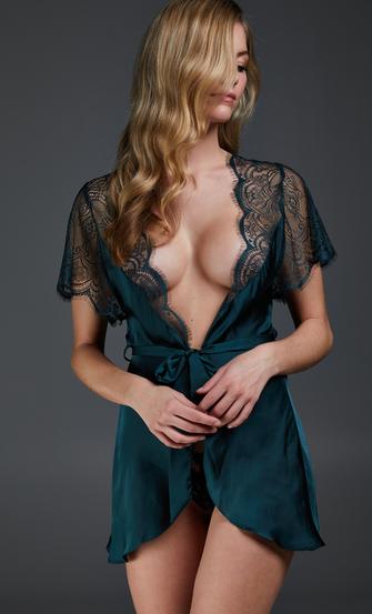 Kimono Cap Sleeve, Verde