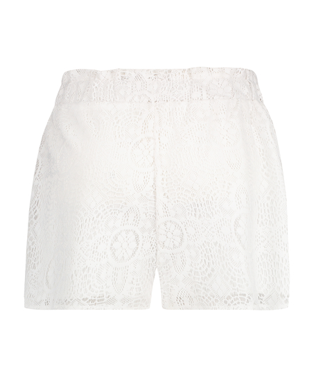 Pantalones cortos de encaje, Blanco