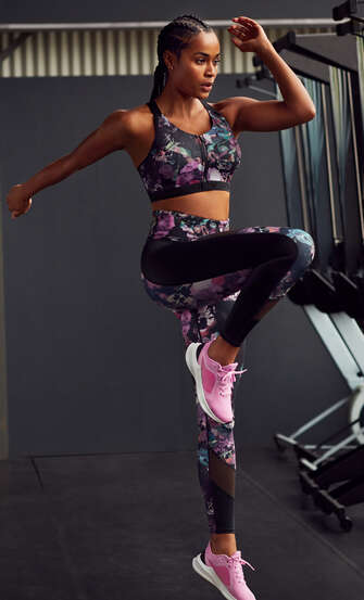 HKMX Legging deportivo de cintura alta, Negro