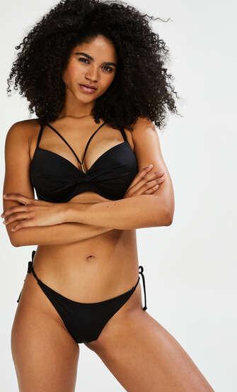 Top de bikini de aros preformado Sunset Dream, Negro