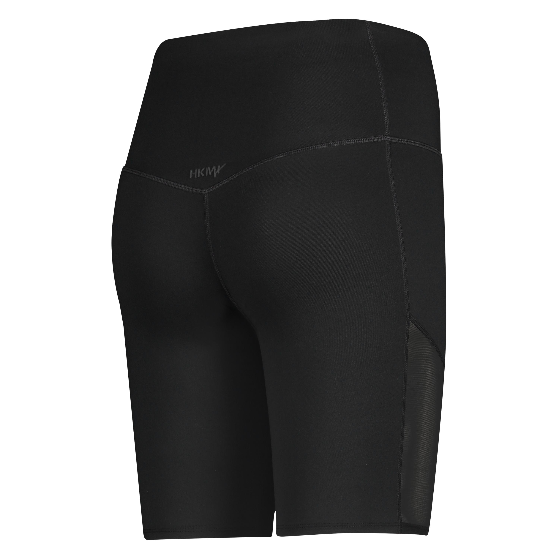 Mallas de ciclista de cintura alta HKMX Nivel 3, Negro, main