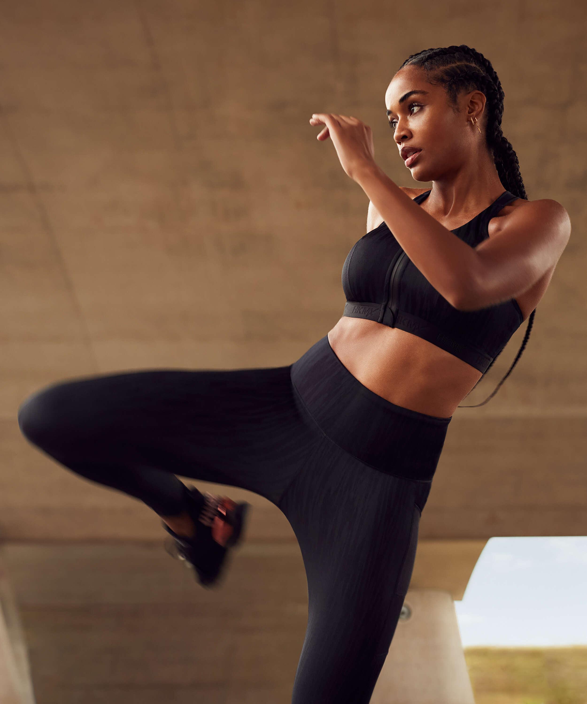 Leggings deportivos de cintura alta HKMX Mojave, Negro, main
