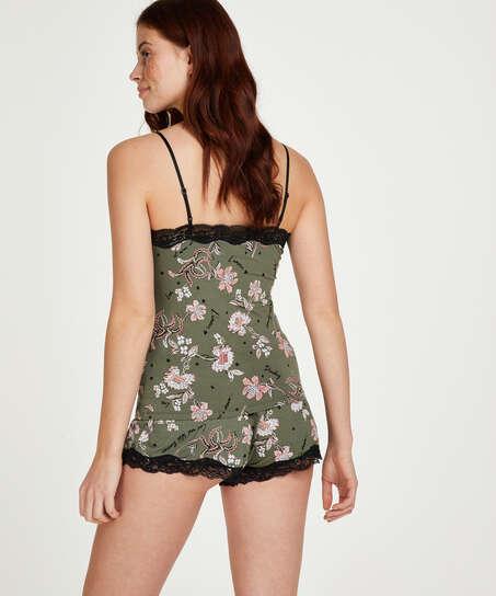 Conjunto de pijama Flower Words, Verde
