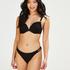 Braguita de bikini brasileña Crochet, Negro