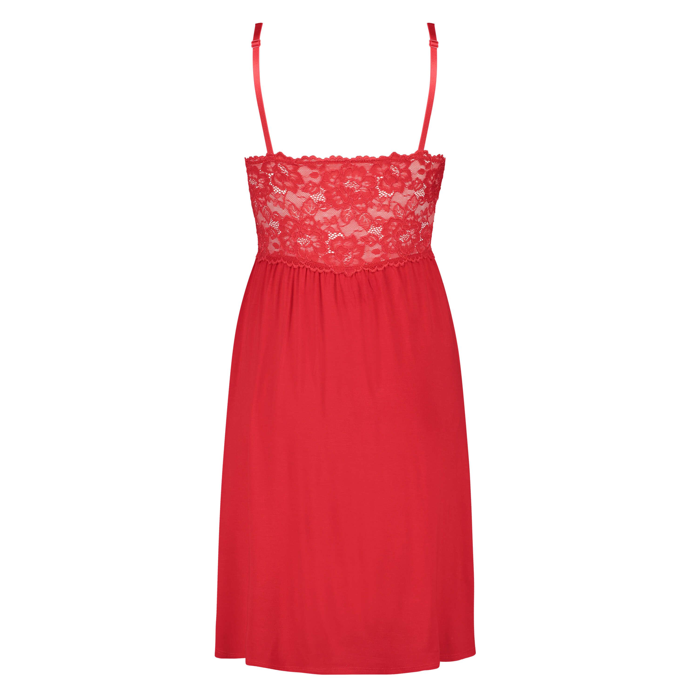 Vestido combinación Modal Lace, Rojo, main