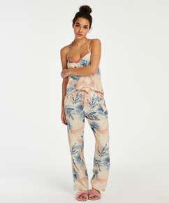 Pantalón de pijama Bird Leaf, Beige