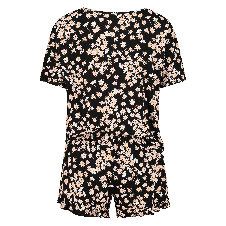 Conjunto de pijama corto, Negro, main