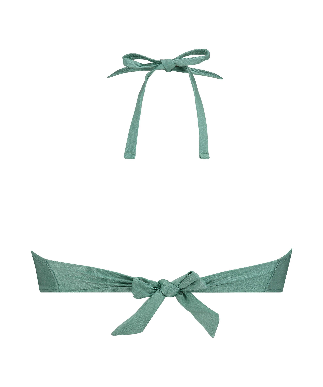 Top de bikini de aros push-up preformado SoCal, Verde, main