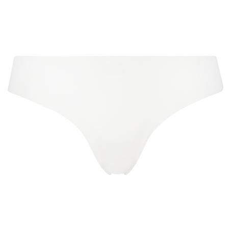 Tanga de algodón Invisible, Blanco