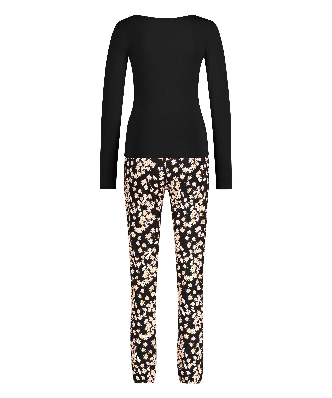 Conjunto de pijama Daisy, Negro, main