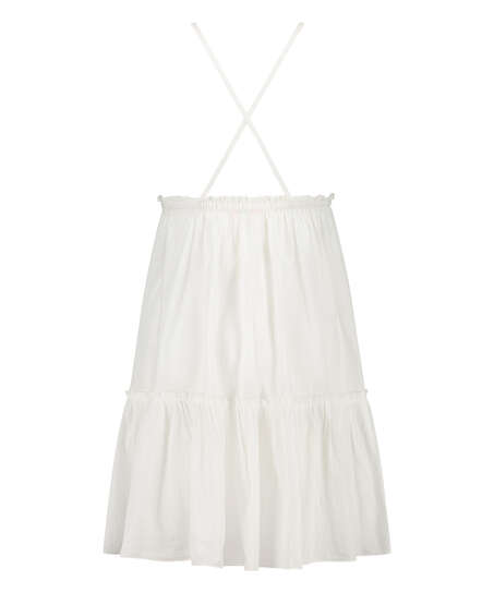 Vestido playero Tiered, Blanco