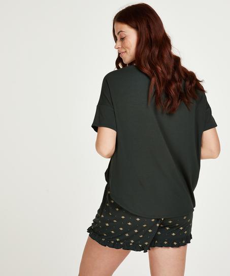 Conjunto de pijama corto, Verde