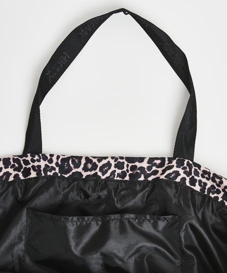 Bolsa de deporte HKMX Leopardo, Negro
