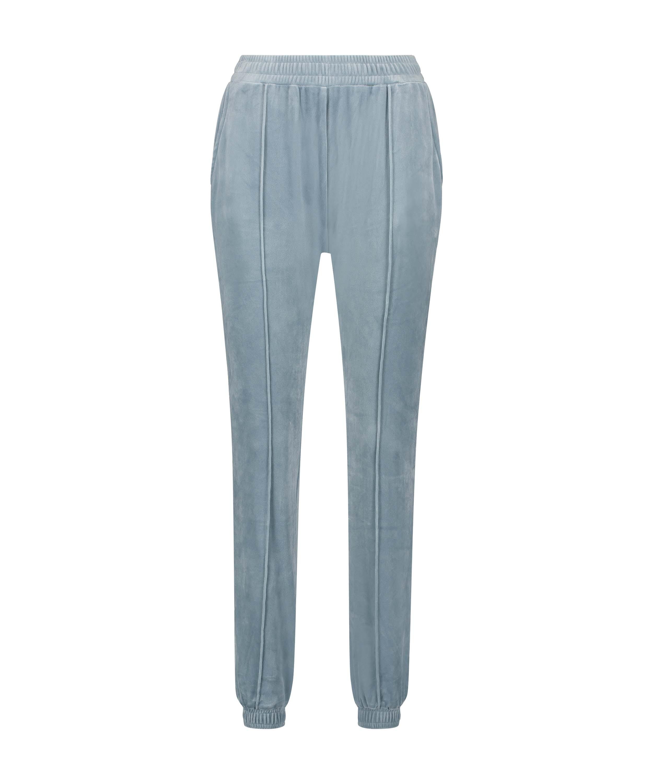Petite Pantalón para correr de terciopelo Pintuck, Azul, main