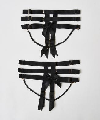 Liguero Private Cuffs, Negro