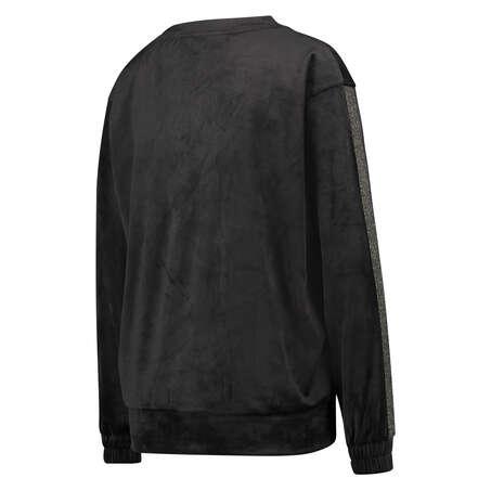 Top de terciopelo Shimmer, Negro