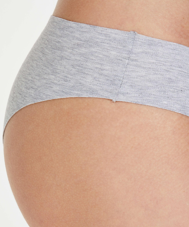 Braguita brasileña de algodón Invisible, Gris, main