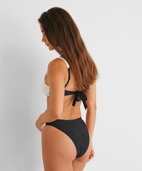 Braguita de bikini de tiro alto 2Tone HKM x NA-KD, Blanco
