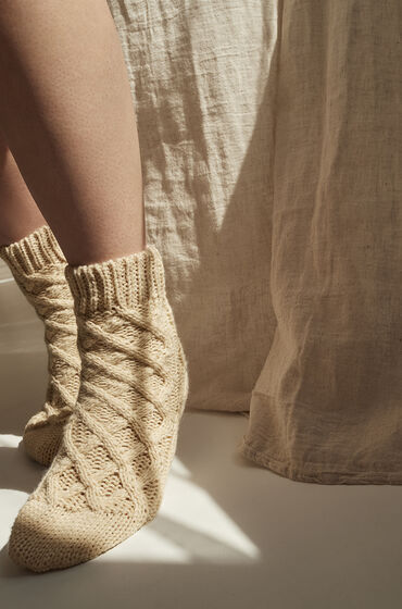 Hunkemöller Calcetines Knit Beige