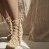 Calcetines Knit, Beige