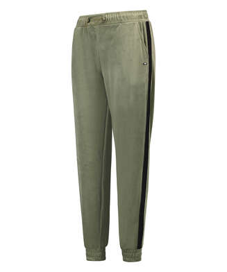 HKMX Pantalón de jogging de cintura alta Terciopelo, Verde