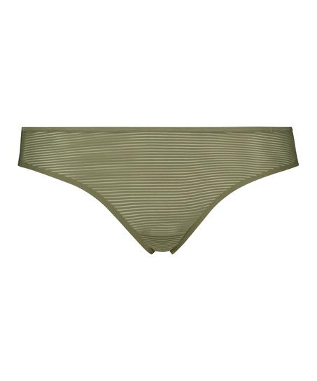 Tanga invisible Stripe mesh, Verde