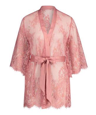 Kimono de encaje Isabelle, Rosa