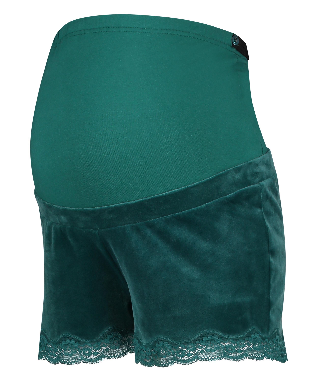 Pantalón corto premamá de terciopelo, Gris, main