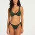 Top de bikini de aros no preformado Tonal, Verde