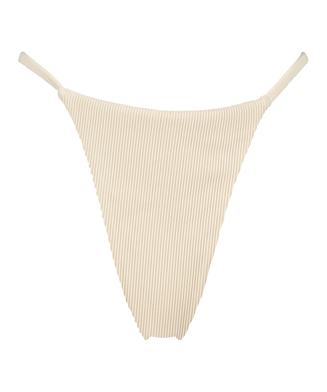 Braguita de bikini de tiro alto Textura HKM x NA-KD, Blanco