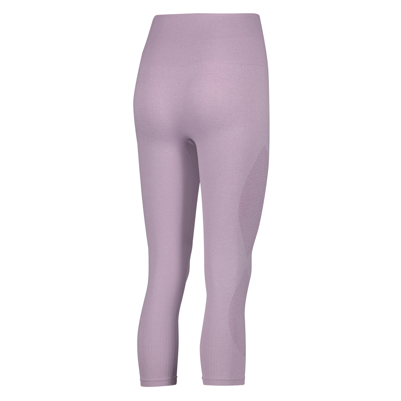Pantalón capri de  cintura alta y punto circular de HKMX, Morado, main
