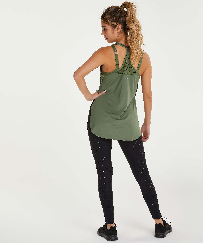 Camiseta sin mangas holgada de HKMX, Verde, main