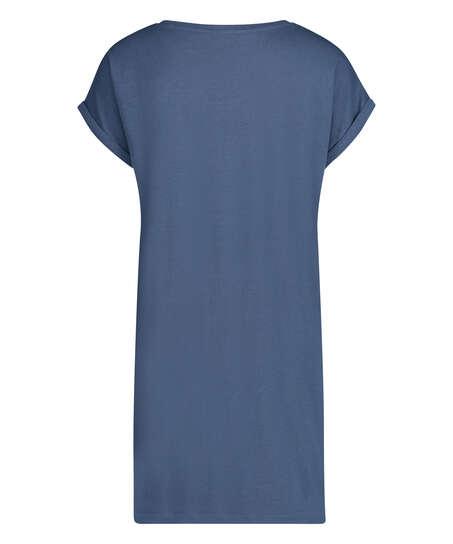 Camisón de cuello redondo, Azul