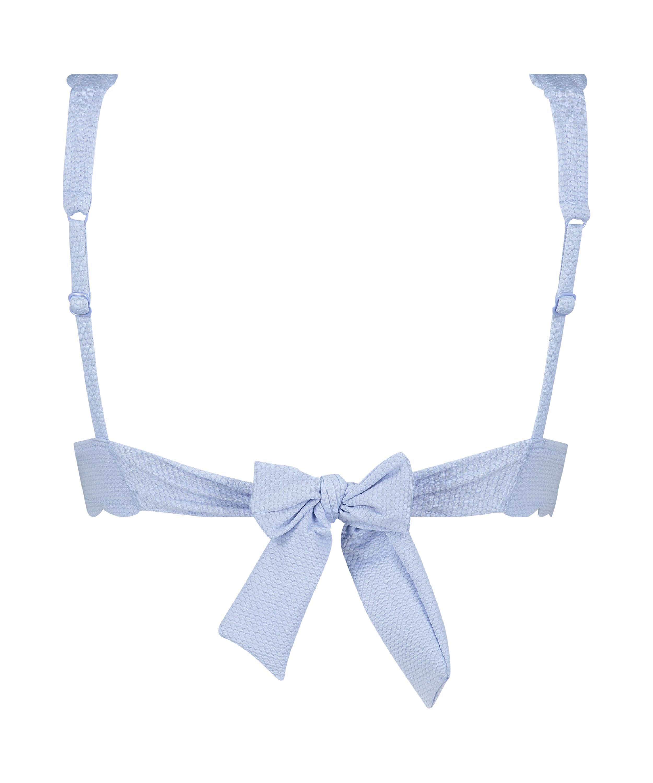 Top de bikini triangular Scallop, Azul, main