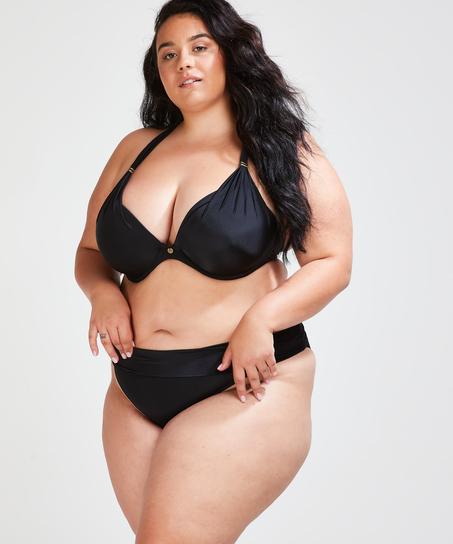 Top de bikini con aros preformado Sunset Dreams Copa E +, Negro