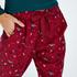 Pantalón de pijama Twill, Rojo
