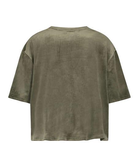 Top de terciopelo Pocket, Verde
