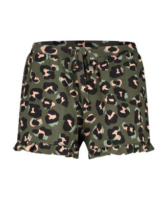 Shorts Jersey con volante Leopard, Verde