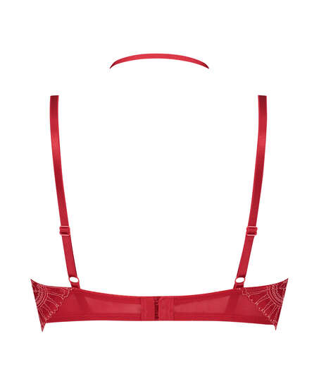 Sujetador longline de aros preformado Coco, Rojo