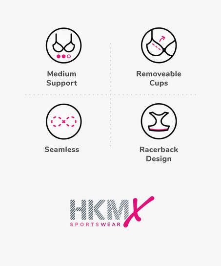 Sujetador deportivo HKMX The Motion Nivel 2, Verde