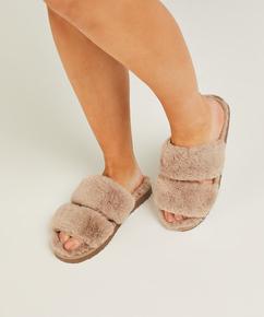 Zapatillas Fake Fur, marrón