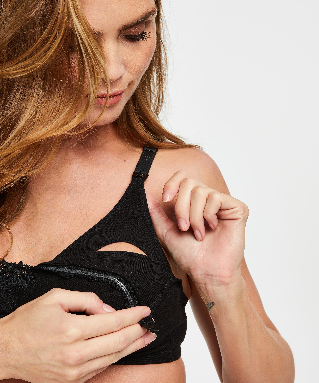 Sujetador de lactancia, Negro, main