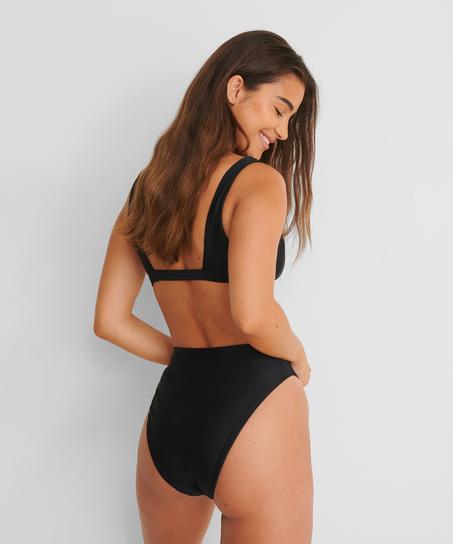 Braguita de bikini de tiro alto Black HKM x NA-KD, Negro